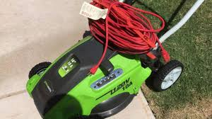 electric lawn mower grass cutter review greenworks 25142 10 amp