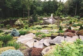 Backyard Landscaping Ideas With Rocks by Lawn U0026 Garden Stunning Backyard Garden With Beautiful River