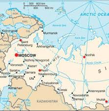 moscow russia map russia