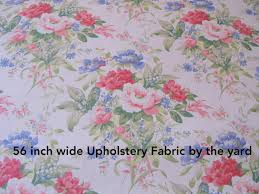 shabby chic fabric 1 yard floral upholstery 56 wide fabrics