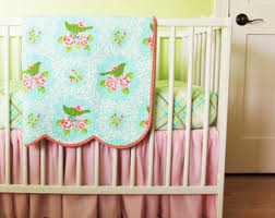 floral crib bedding etsy
