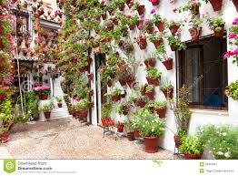 House Patio Spring Flowers Decoration Of Old House Patio Cordoba Spain