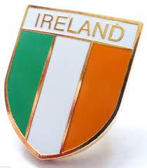 ireland irish flag shield pin badge t702