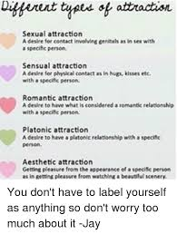 Sexual Relationship Memes - ent types attraction sexual attraction a desire for contact