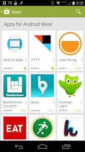 find android wear apps in play store