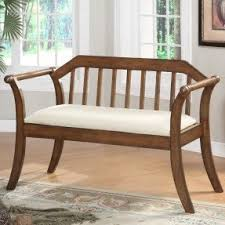 Upholstered Storage Bench Upholstered Storage Bench With Arms Foter