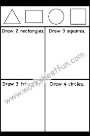 shapes u2013 triangle rectangle circle u0026 square u2013 one worksheet