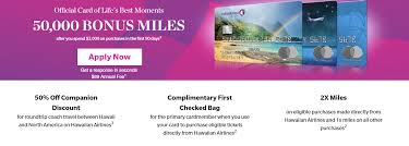 50 000 hawaiian airlines mile credit card bonus from barclaycard
