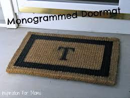 tips monogram doormat 4x6 door mat cute welcome mats