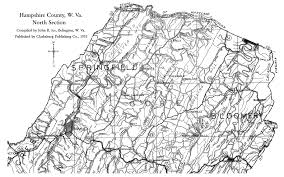 Road Map Virginia by Hampshire County Wv History Homepage