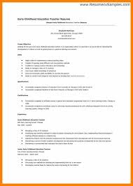 early childhood education resume samples early childhood