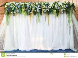 wedding backdrop green white and green backdrop flowers stock image image of color