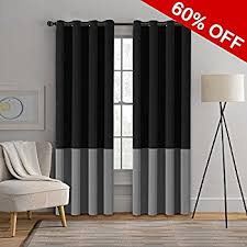 2 Tone Curtains Two Tones Blackout Curtains Thermal Insulated Grommet