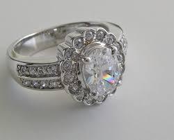 scalloped engagement ring scalloped halo design oval shape engagement ring