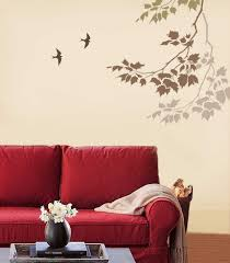 Painting Ideas For Living Room Walls Beautiful Wall Painting Stencils To Play Up The Walls According To