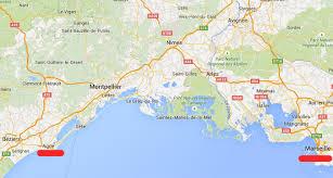 marseilles map marseilles airport and city to cap d agde naturist