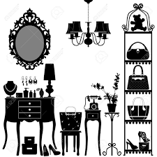 woman cosmetic accessories room furniture royalty free cliparts
