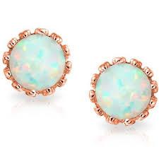 opal stud earrings opal crown stud earrings in 18k gold dailysale