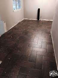 herringbone wood look tile mrs do it herself