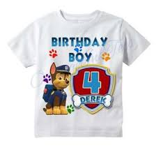 chase paw patrol custom shirt personalize birthday gift choose