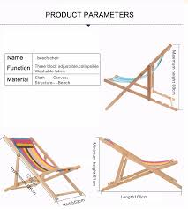 Beach Chair Name Adjustable Height Wooden Sand Chair Foldable Beach With High Anti