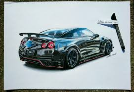 nissan gtr body kit nissan gt r varis bodykit 50x35cm pencils u0026 markers