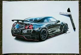 nissan gtr skyline drawing nissan gt r varis bodykit 50x35cm pencils u0026 markers