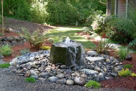 Backyard Pondless Waterfalls by Outdoor Fountains And Waterfalls Zamp Co