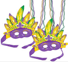 bead masks mardi gras mask bead necklaces set 2 masks 6