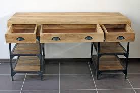 bureau fer forgé meuble fer forgé 3 bureau metal bois myqto modern aatl