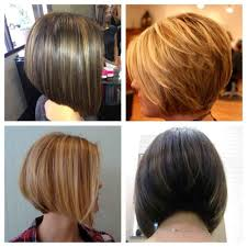 front and back views of chopped hair back view layered haircuts for long pictures of bob front and