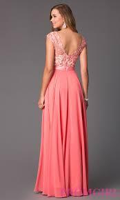 cap sleeve v neck floor length dress promgirl
