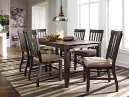 dresbar urbanology grayish brown 7pc rectangle dining room set