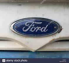 ford logo vintage ford logo in cuban working american truck hood slightly