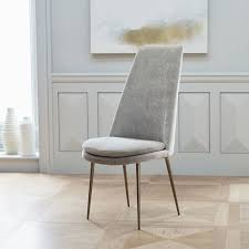 Dining High Chairs Finley High Back Velvet Dining Chair West Elm