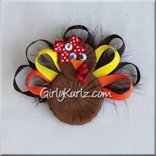 thanksgiving hair bows thanksgiving turkey hair bow girly kurlz
