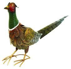 painted steel large pheasant garden ornament decoration item