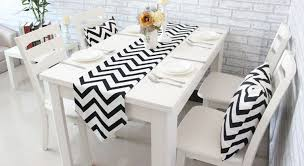 ikea table runners tablecloths 1 pcs table runners geometric wave lattice print canvas cotton