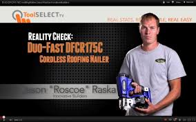 Battery Roofing Nailer by Duo Fast Dfcr175c Cordless Roofing Nailer Real World Review