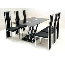 glass dining room sets glass dining table 6 chairs sale a gallery dining glass dining table