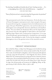 the sun also rises ernest hemingway 8601419272143 amazon com books