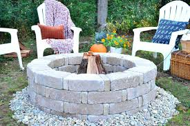 Fire Pit Block Kit How To Build A Fire Pit With Rocks In Ground Kit Stones Home Depot