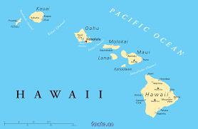 Blank Map Of Hawaiian Islands by Hawaii On Map My Blog