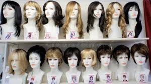 hairstyles to do on manikin fashion mannequins in wigs editorial stock image image of