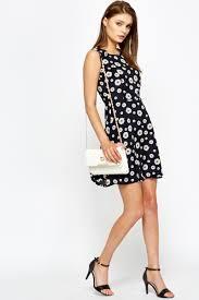 navy daisy print skater dress just 5