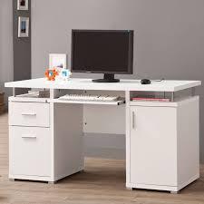 Contemporary Computer Desks Contemporary White Computer Desk Coaster 800108