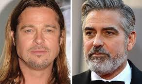 hair plugs for men top 10 celebrity beards brad pitt george clooney zac efron