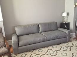 chesterfield leather sofa used living room restoration hardware maxwell leather sofa in grey