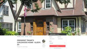Paramount Realty Usa To Auction Now On Airbnb Us President Donald Trump U0027s Childhood Home In