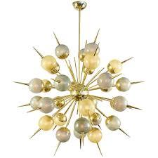 elegant dining room lighting lighting murano multicolored glass brass sputnik chandelier for